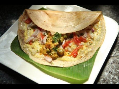 Indian Street Food - Egg Dosa