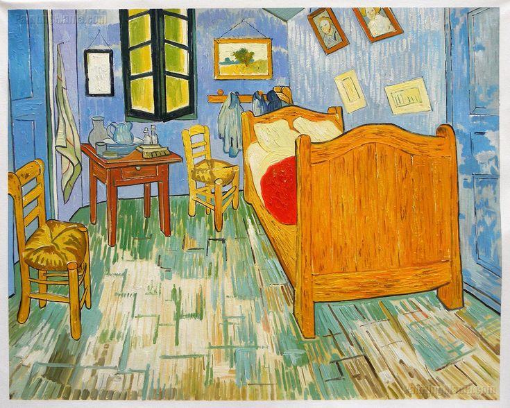 Vincent's Bedroom in Arles 1889 (With images) Van gogh