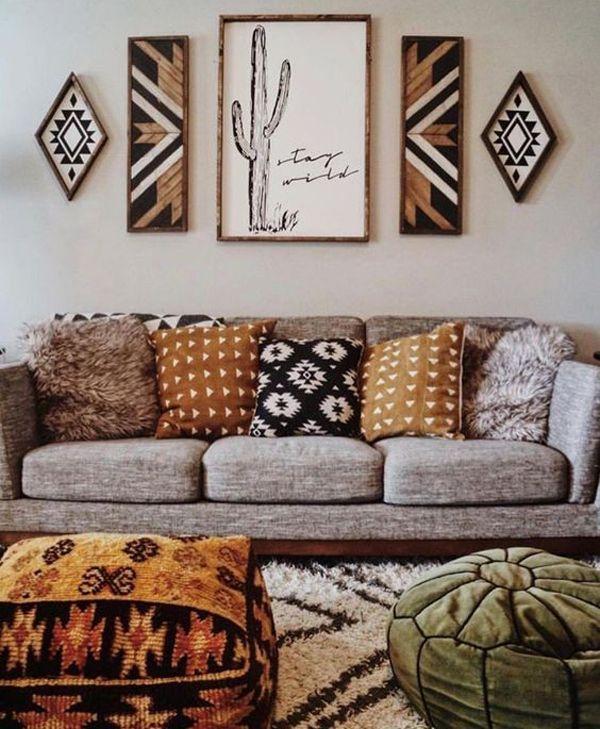 20 Artistic And Beautiful Boho Wall Art Ideas Boho Living Room Decor Boho Apartment Decor Home Decor