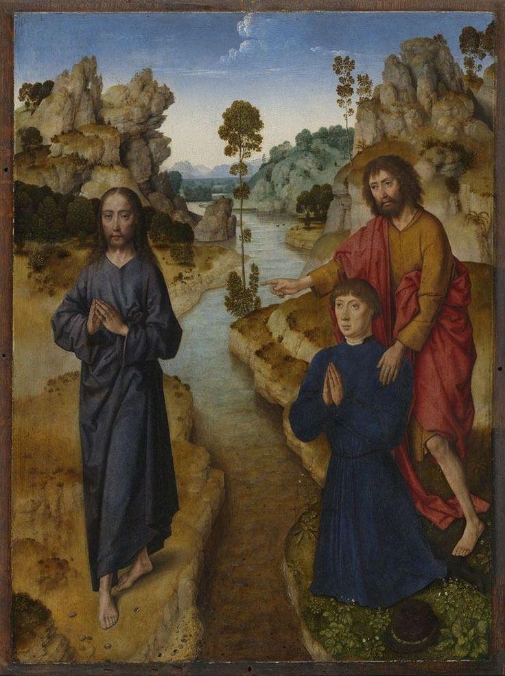 Ecce Agnus Dei / Este es el Cordero de Dios // ca.1462-1464 // Dieric Bouts the Elder // Alte Pinakothek München // Jesus Christ / Saint John the Baptist
