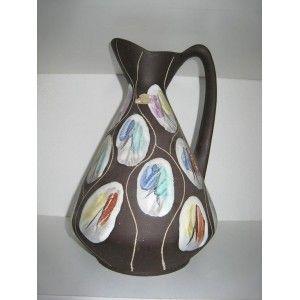 A  superb Bay enameld jug on Black base