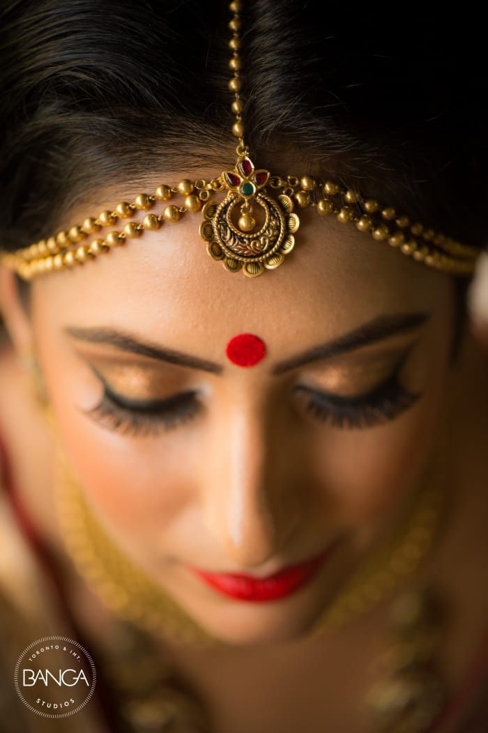 Bridal Wear - The Bride Komal! Photos, Hindu Culture, Beige Color, Make Up, Bridal Makeup, Mangtika pictures, images, vendor credits - Anita Dongre Timeless, Shyamal and Bhumika, Anushree Reddy, WeddingPlz