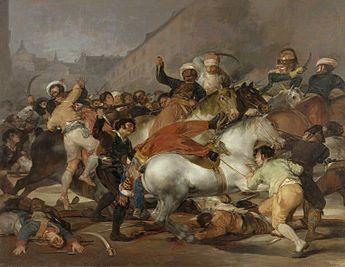Франциско Гойя Восстание 2 мая 1808 года в Мадриде. 1814 El dos de mayo de 1808 en Madrid Холст, масло. 268 × 347 см Музей Прадо, Мадрид