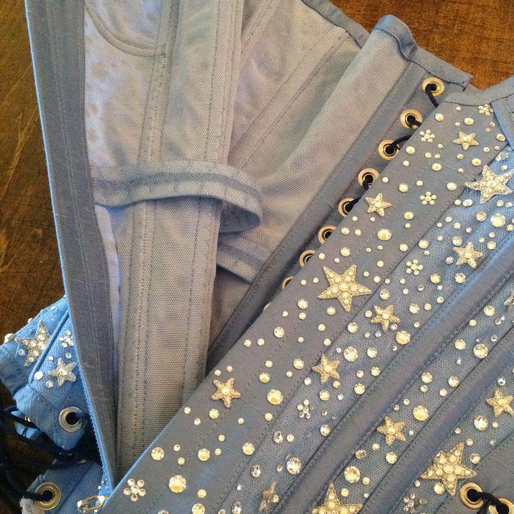 Blue Moon Girdle Corset for Roxi Dlite... Update for her Manuge et Toi Moonlight Cyrenade costume.  2014