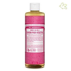 Dr. Bronner's Magic Soaps - Savon Liquide Pur Végétal Rose (maxi 473ml) - fabriqué à partir d'huiles bio et certifiés commerce équitable Disponible dans l'e-shop www.officina-paris.fr #savon #bio #naturel #végétal #beauté #drbronner #drbronners #fairtrade #vegan #équitable #magicsoap #green #soin #corps #bain #douche #peau #rose #floral #sensuel #chill #relax #stress #detox #fraicheur #usa #france #douche #feminin #officina #paris