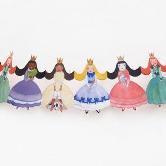 used these as a template for homemade princess paper doll chain.