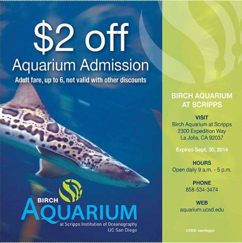 Aquarium discount coupons