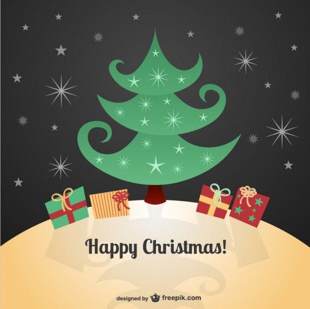 Christmas card with cartoons