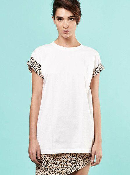 MLM - Verse Tee - White - Tan - Leopard  $79.90