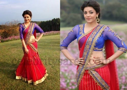 Kajal Attractive Half Saree | Saree Blouse Patterns