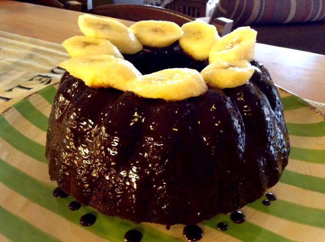 Ενα απίθανο κέικ με Σοκολάτα και Μπανάνες!! ~ ΜΑΓΕΙΡΙΚΗ ΚΑΙ ΣΥΝΤΑΓΕΣ