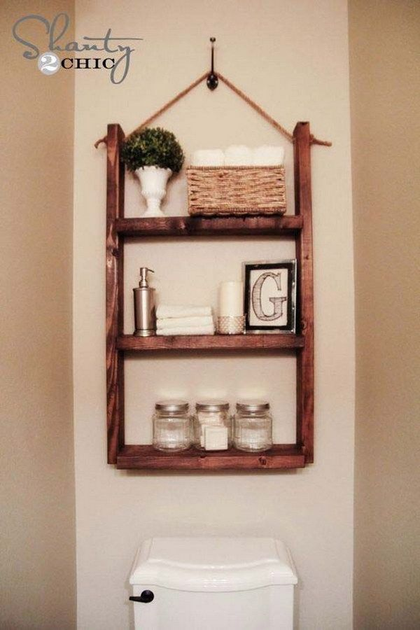 Best Over Toilet Storage Ideas On Pinterest Shelves Over - Bathroom racks and shelves for small bathroom ideas