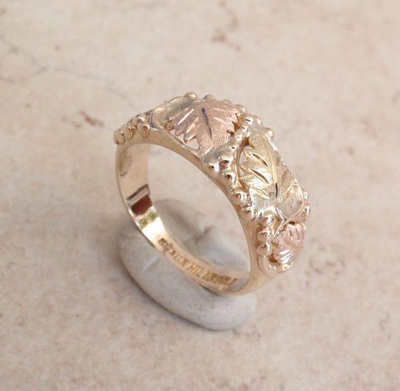 Black Hills Gold Ring Tri Color 10k Size 6 25 Vintage 011816yu Black Hills Gold Jewelry Black Hills Gold Rings Black Hills Gold