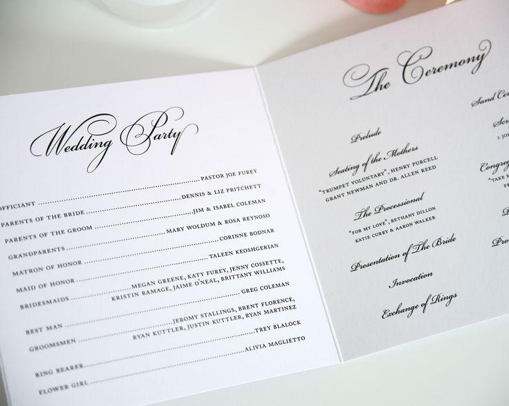 Wedding Ceremony Program Examples Thebridgesummit Co