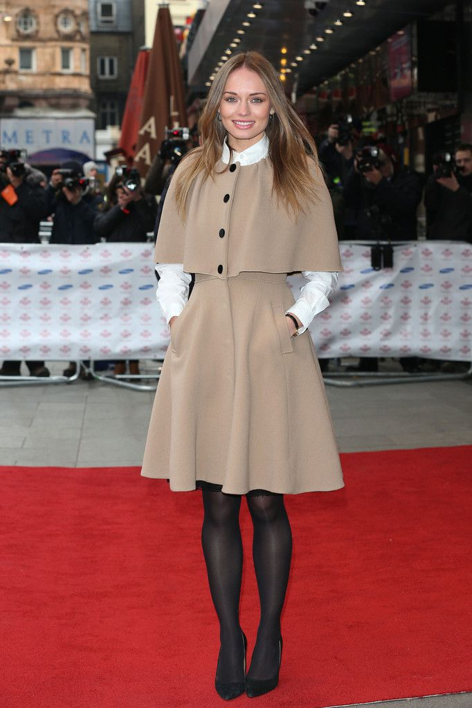 Laura Haddock wearing the Dolce and Gabbana fall 2012 beige stretch crepe caped coat we saw Princess Beatrice of York wear on Christmas Day, and Lucy Liu at the 2012 New York Women In Film And Television Muse Awards attending the Prince's Trust Celebrate Success Awards at Odeon Leicester Square on March 26, 2013 in London, England.