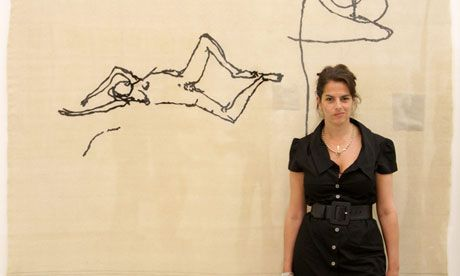 Drawing the line …Tracey Emin pictured at the White Cube gallery in May 2009. Photograph: Oli Scarff/Getty Images