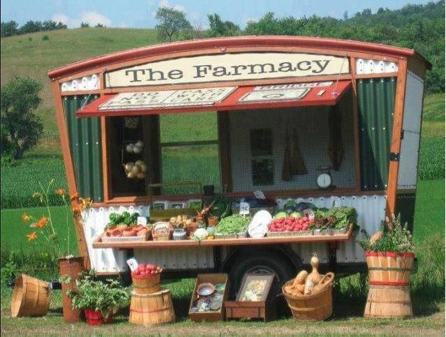 Could make a 'Farmacy' sign for the section of herbs and teas.