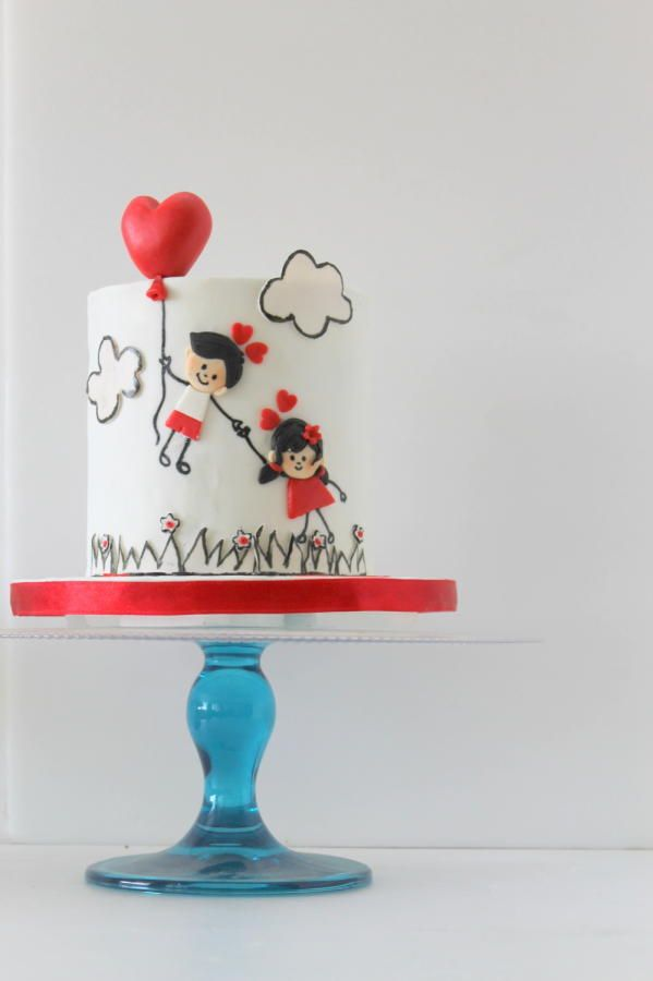 Love is in the air by shrutik13 - http://cakesdecor.com/cakes/210007-love-is-in-the-air