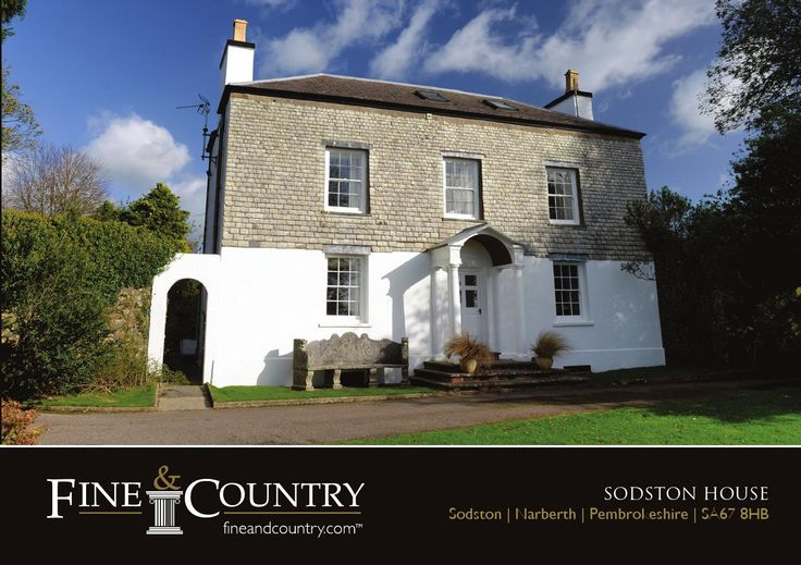 7 bedroom Country House for sale in Narberth  Sodston House is a wonderful Grade II listed Georgian gentleman's residence. Situated in the middle of 79 acres of good pasture land, there are numerous outbuildings, original coach house & stables, hard tennis court, a three bedroom cottage, and a one bedroom gate house.