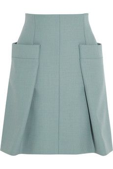 Chloé Woven A-line skirt with pockets