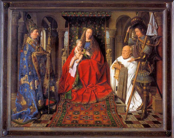 """Ян ван Эйк """"Мадонна каноника Ван дер Пале"""" (1434-1436 гг). Музей в Брюгге"""