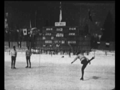 Winter Olympics - Figure Skating Sonja Henie and Gillis Grafstrom A very RARE glimpse at the early days of Figure Skating. The official Figure skating film of the 1924 Winter Olympic Games from Chamonix, France. First commercially available film of the Olympic Games.