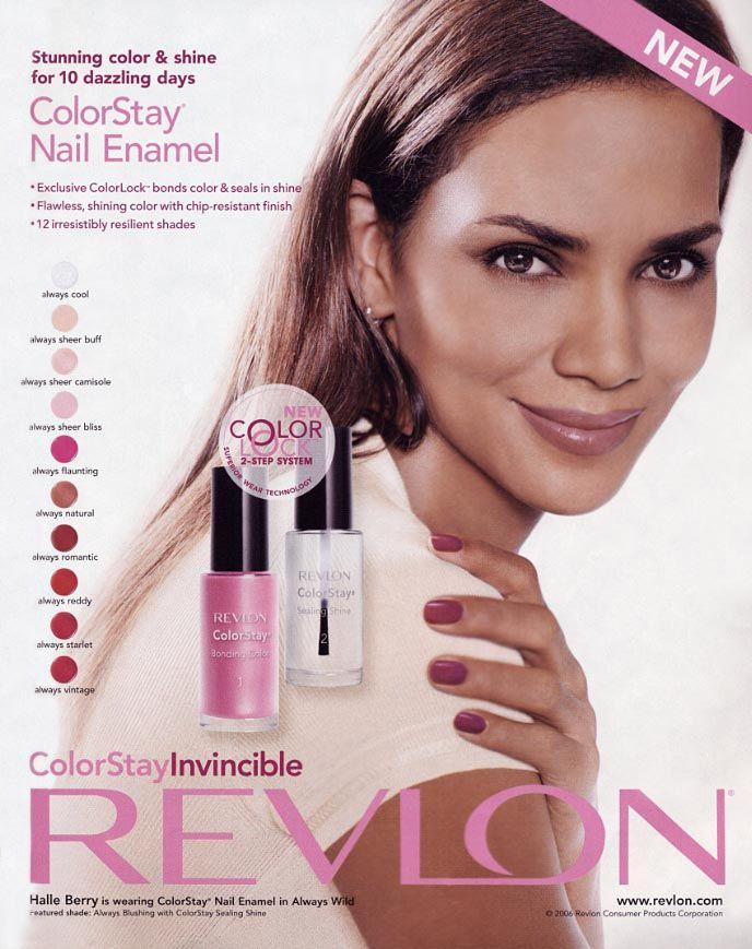 HALLE BERRY FOR REVLON COSMETICS | cosmetics ads | Pinterest ...