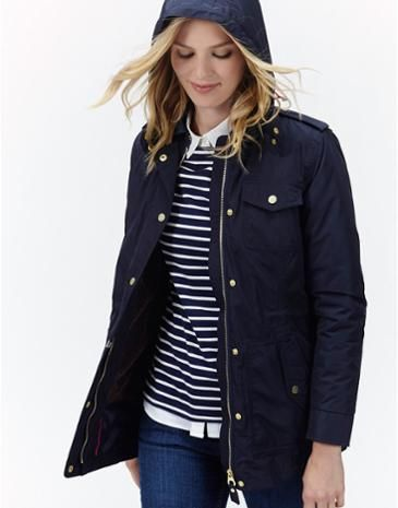 Joules Womens 3-in1 Waterproof Jacket, Marine Navy.                     We've considered every possibility of the English summer with this 3-in-1 coat that's part of our Right as Rain collection, and we're really rather proud of it.  Wear the 100% waterproof outer coat on its own when it's wet or opt for the smart and neat, fully quilted inner jacket when just a little cover up is required.  For days when you need all the protection