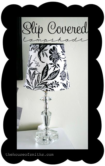 Slip Cover for Lampshade Tutorial
