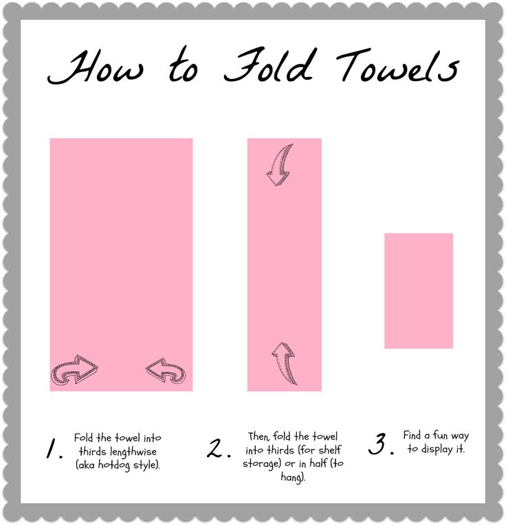 Displaying Guest Towels: How To Fold Bath Towels & 19 Display Ideas