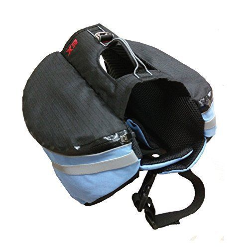 AZLife Adjustable Lightweight Dog Backpack Saddle Gear Bag for Traveling Camping HikingBlue >>> You can find out more details at the link of the image.