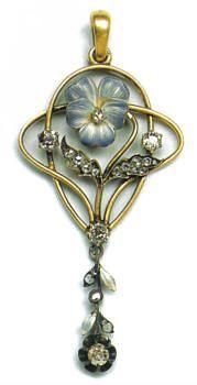 Pendant. Moscow, 1899-1908. Gold, diamonds and enamel