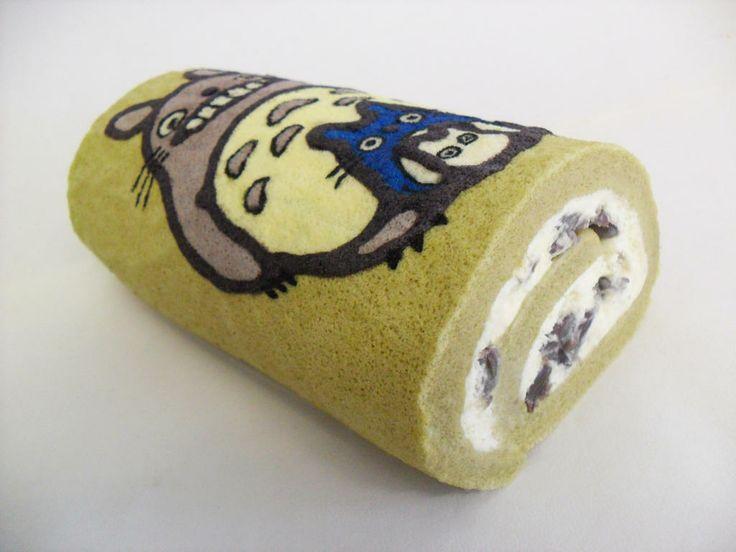 Art Deco Roll Cake : Totoro Deco roll cake Cakes Pinterest