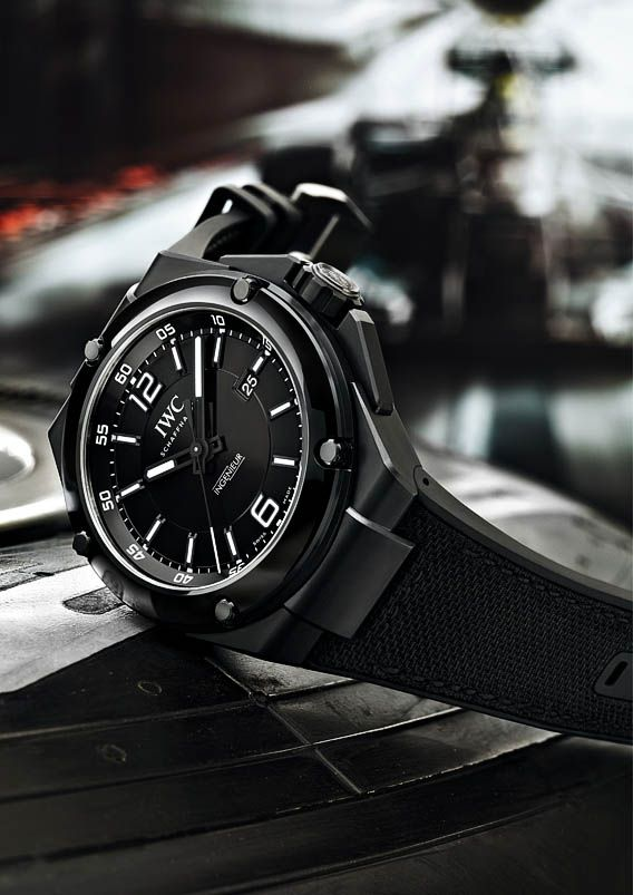 """♂ Masculine and elegance men's fashion accessories black watch The IWC Ingenieur Automatic """"AMG Black Series Ceramic edition"""""""