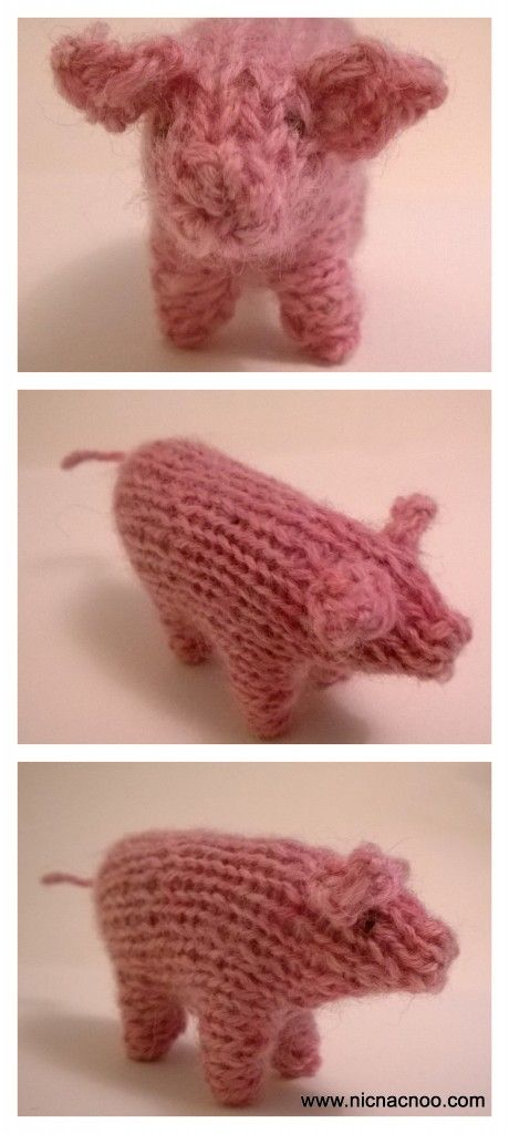 Knitted pig (Waldorf inspired) - free knitting pattern available if ...