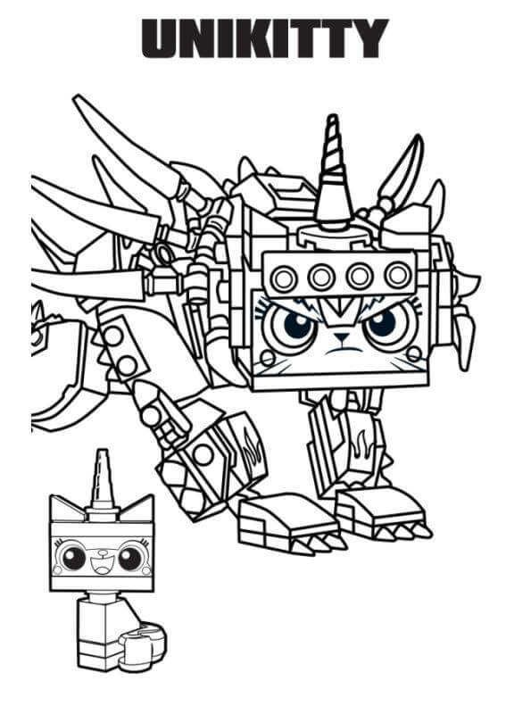 The Lego Movie 2 Coloring Pages Printable Colores Ninos Y Ing
