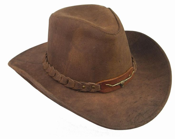 Cowboy Hats | Brumby - Distressed Leather Cowboy Hat