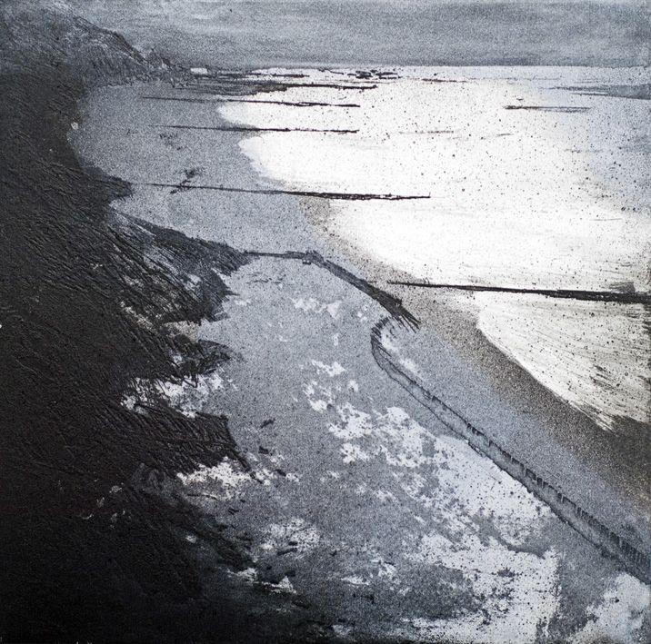 Artwork - Stephen Robson - 'Overstrand Cliffs' Print - Etching