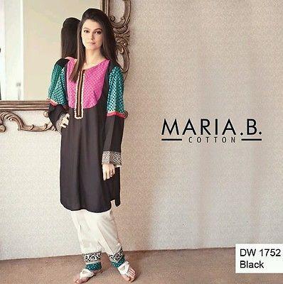 Maria B  latest pakistani designer  dress with cigarette pants