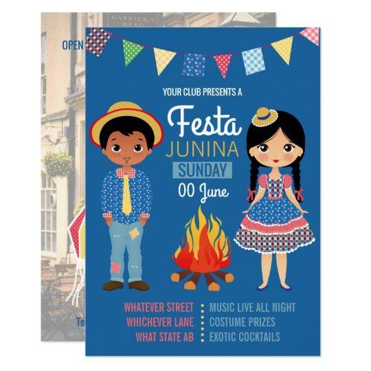 Festa Junina Corporate/Club Party Invitation