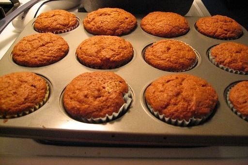 """Sourdough muffins - uses """"discarded"""" starter and soaks flour for 7 hours.  Came out super light and fluffy, moist and delicious.  Adding to my go-to list for using up excess starter!"""