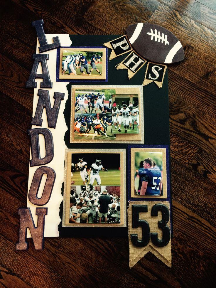 Football locker poster, team spirit, helmet night, high school sports