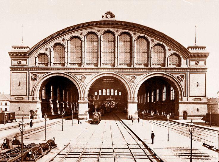 1881 Berlin - Anhalter Bahnhof, Gleishalle von Süden (Foto: Franz Schwechten)
