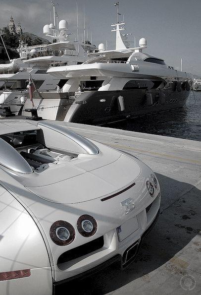 Bugatti to the boat #luxury #wealth