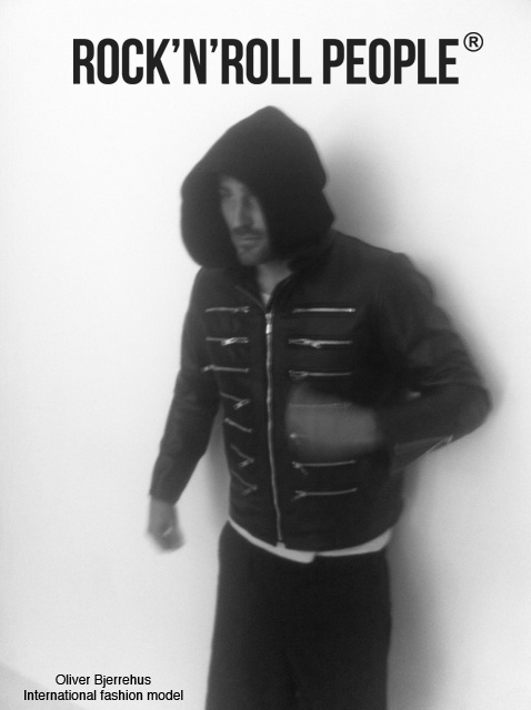 Int. Fashion Model, Oliver Bjerrehus with leather jacket from ROCK N ROLL PEOPLE, see: http://rocknrollpeople.com/shop/men/jackets/nalu/
