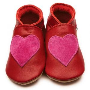 Love Red Shocking Pink Inch Blue Shoes - Soft Handmade Leather Baby Shoes