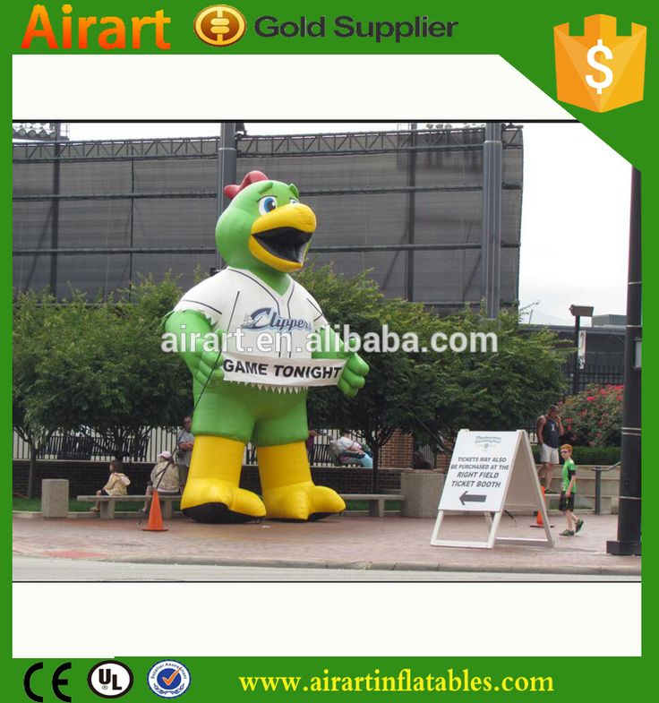 Inflatable baseball mascot parrot/giant inflatable parrot