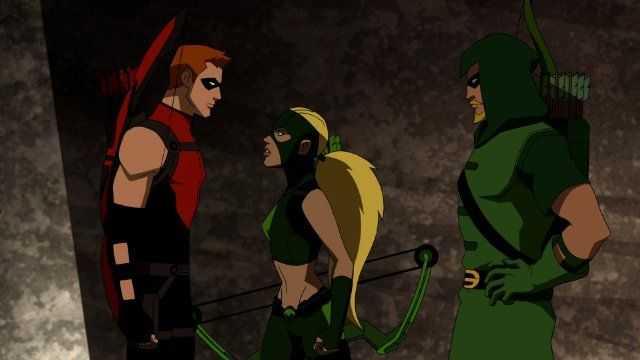 Young Justice: Red Arrow, Artemis, and Green Arrow