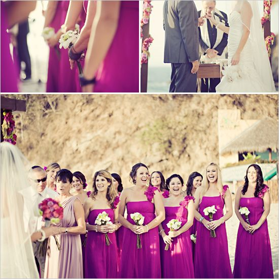 17 best images about wedding flowers colors on pinterest for Magenta dress for wedding