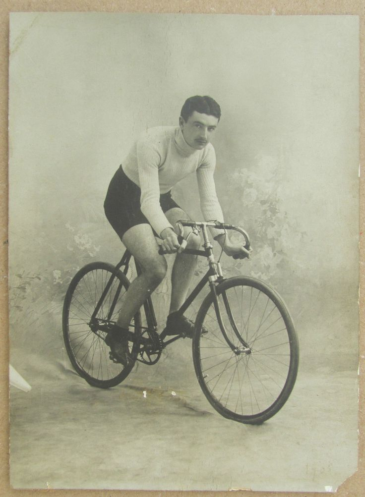 Photo Ancienne 1906 Cycliste Vélo Cyclisme | eBay
